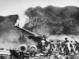 Korean War: Artillery Photographic Print