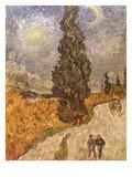 Van Gogh: Cypresses, 1889 Posters by Vincent van Gogh