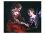 St. Cecilia And An Angel Giclee Print by Orazio Gentileschi