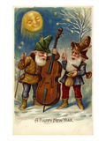 American New Year&#39;s Card Giclee Print