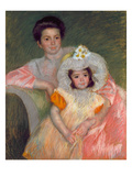Cassat: Woman & Girl, C1902 Giclee Print by Mary Cassatt