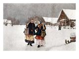 Kasatkin: The Rival, 1891 Premium Giclee Print by Nikolai Alexeivich Kasatkin