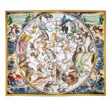 Celestial Planisphere, 1660 Giclee Print by Andreas Cellarius