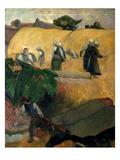 Gauguin: Breton Women Premium Giclee Print by Paul Gauguin