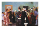 Albertine at the Police Doctor's Waiting Room, 1886-87 Giclee Print by Christian Krohg