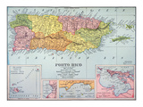 Map: Puerto Rico, 1900 Giclee Print