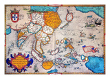Pacific Ocean/Asia, 1595 Giclee Print by Abraham Ortelius