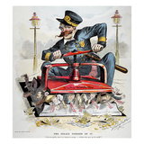 Police Corruption Cartoon Giclee Print by Louise Dalrymple