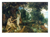Adam And Eve Giclee Print by Peter Paul Rubens