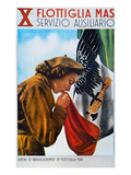 WWII: Italian Poster Giclee Print