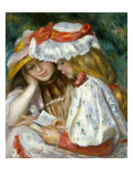 Renoir: Two Girls Reading Art by Pierre-Auguste Renoir