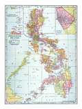 Map: Philippines, 1905 Art Print