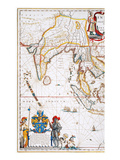 South Asia Map, 1662 Giclee Print by Jan Blaeu