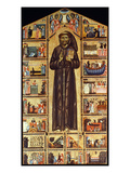 St Francis Of Assisi Giclee Print by Master of St. Francis Bardi