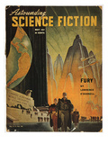 Science Fiction Magazine Giclee Print by Hubert Rogers