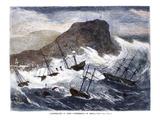 Arica Earthquake & Tidal Wave, Giclee Print