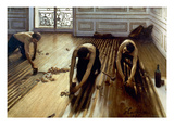 Caillebotte: Planers, 1875 Giclee Print by Gustave Caillebotte