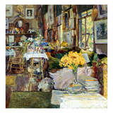 Room Of Flowers, 1894 Print by Childe Hassam