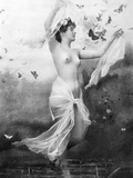 Nude With Butterflies Photographic Print by Fritz W. Guerin