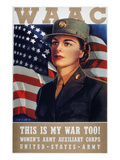WWII: Waac Poster, 1942 Premium Giclee Print