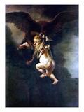 Rape Of Ganymede Print by  Rembrandt van Rijn