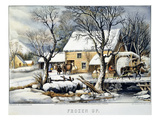 Currier & Ives Winter Scene Giclee Print by  Currier & Ives