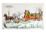 New York: Steet Sleigh Giclee Print