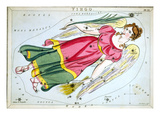 Constellation: Virgo, 1825 Prints by Sidney Hall
