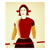 Malevich: Girl, 1932-33 Giclee Print by Kasimir Malevich