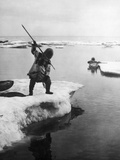 Eskimo Fishermen Photographic Print