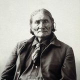 Geronimo (1829-1909) Reproduction photographique par Adolph F. Muhr
