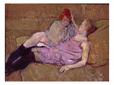 Toulouse-Lautrec: The Sofa. Oil On Cardboard, 1894-96 Prints by Henri de Toulouse-Lautrec