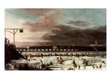 Frozen Thames Giclee Print by Abraham Danielsz. Hondius