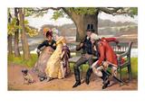 Flirtation, C1810 Giclee Print by Henry Gillard Glindoni