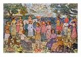 Prendergast: Beach, 1916 Art by Maurice Brazil Prendergast