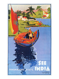 Indian Travel Poster, 1938 Giclee Print