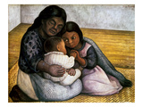 Rivera: Mother & Children Giclee Print by Diego Rivera