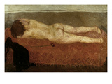 Mafai: Nude On Sofa Giclee Print by Mario Mafai