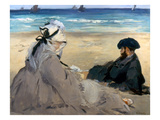 Manet: On The Beach, 1873 Posters by Edouard Manet
