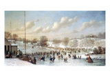 Ice Skating, 1865 Giclee Print by Johann Mongels Culverhouse