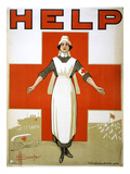 Red Cross Poster, C1917 Giclee Print by David Henry Souter
