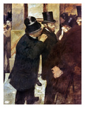 Degas: Stock Exchange Giclee Print by Edgar Degas