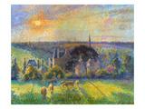 Pissarro: Eragny, 1895 Print by Camille Pissarro