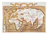 Waldseemuller: World Map Poster by Martin Waldseemuller
