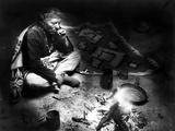Navajo Man Smoking, C1915 Photographic Print by William Carpenter