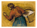 Degas: Laundress, C1888-92 Giclee Print by Edgar Degas