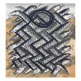 Aztec Painting: Snakes Giclee Print