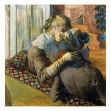 Degas: At Milliner's, 1885 Giclee Print by Edgar Degas