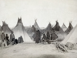 Sioux Encampment, 1891 Photographic Print by John C.H. Grabill
