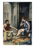 Alexander & Aristotle Giclee Print